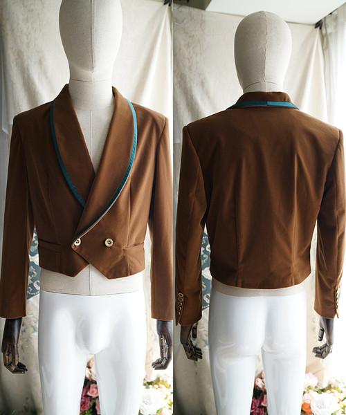 Elegant Gothic Man Neat Short Jacket