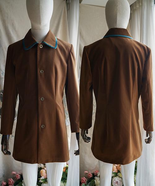Elegant Gothic Man Mid-Length Coat