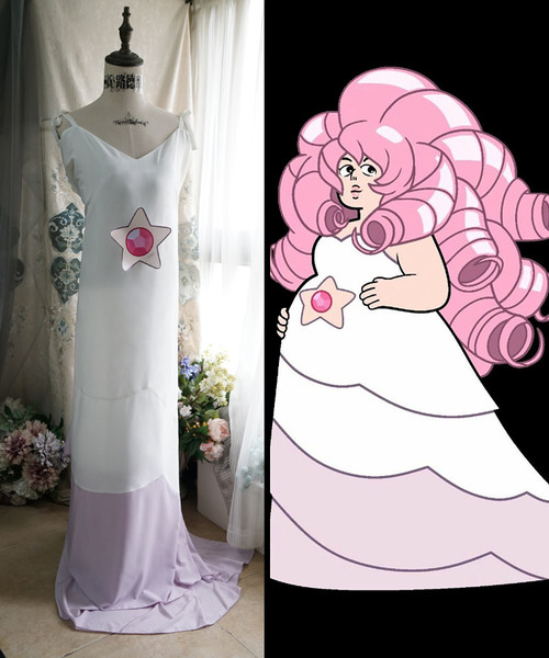 Steven Universe Cosplay, Rose Quartz Maxi Dress Costume