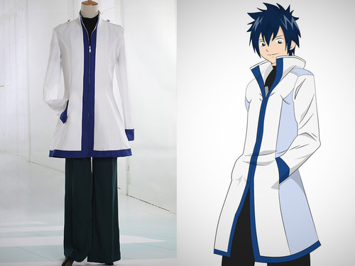 Fairy Tail Cosplay Gray Fullbuster Costume Outfit