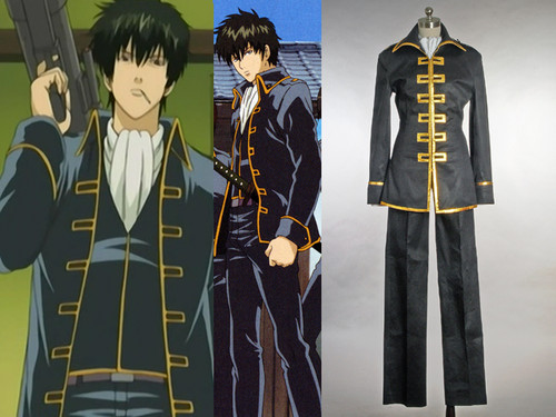 Gintama/Shinsengumi Cosplay Costume,Japan Boy School Uniform Set