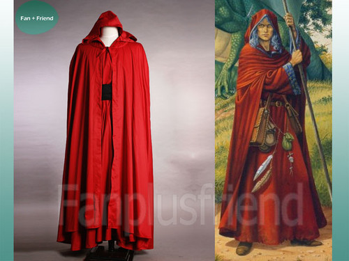 Magic Renaissance Wedding Medieval Hooded Cape Cloak and Gown