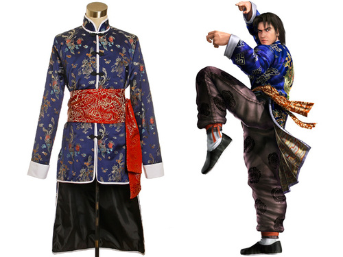 Namco Game,Tekken Cosplay,Lei Wulong Costume Set