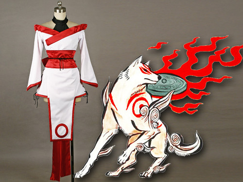 Okami Inspired Cosplay, Okami Amaterasu Costume Set