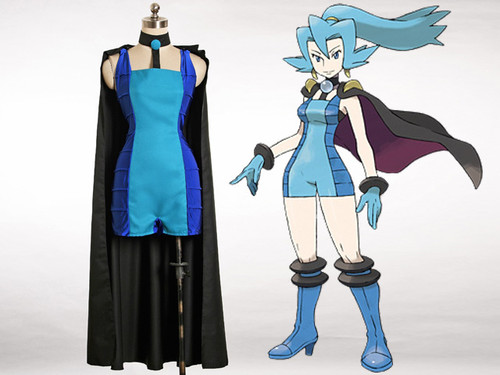 Pokemon HeartGold & SoulSilver Cosplay Clair Costume Set