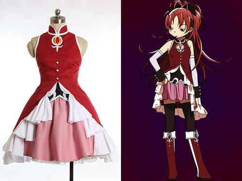 Puella Magi Madoka Magica/Magical Girl Madoka of the Magus, Cosplay Kyoko Sakura Costume Set