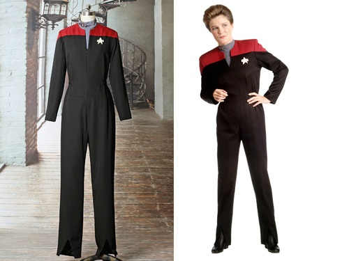 Star Trek: Voyager Cosplay, Captain Kathryn Janeway Costume Uniform