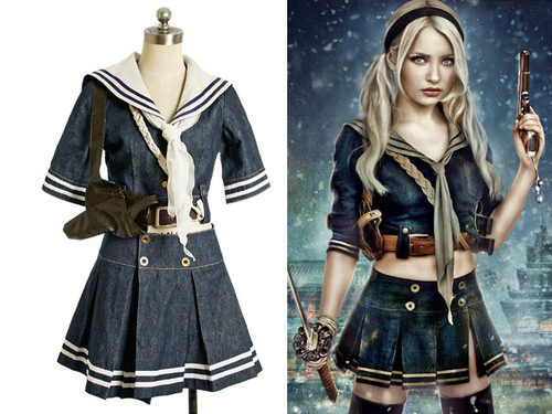 Sucker Punch Cosplay Baby Doll Costume Outfit