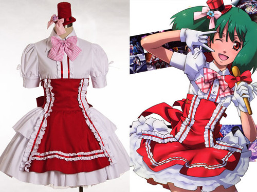 The Super Dimension Fortress Macross Cosplay Ranka Lee Maid Outfit