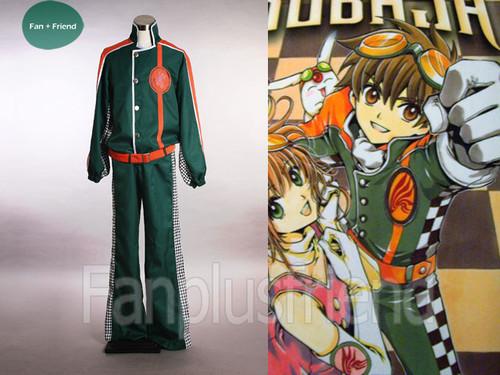 Tsubasa Chronicle Cosplay,Syaoran Pilot Uniform Costume Set