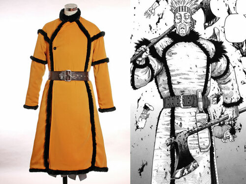 Vinland Saga/Viking Legend Cosplay, Thorkell the Tall Viking Barbarian Celt Primitive Vintage Pirate Costume Suit
