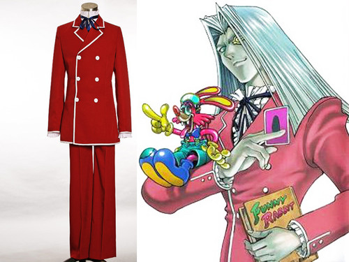 Yu-Gi-Oh! Cosplay Maximillion Pegasus Costume Formal Double Breasted Suit