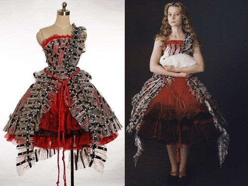 Alice in Wonderland (Tim Burton) Cosplay Alice Red Kingdom Costume Outfit