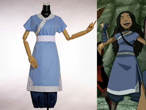 Avatar Cosplay, Katara 4pcs Costume