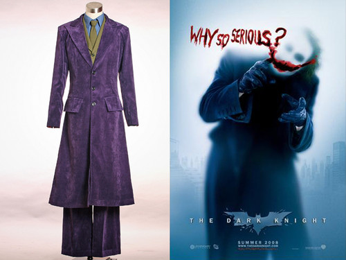 Cosplay DARK KNIGHT Batman JOKER Fine Formal Velveteen Suit