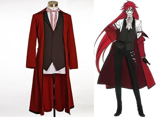 Black Butler/Kuroshitsuji Cosplay Grell Sutcliffe Costume Set