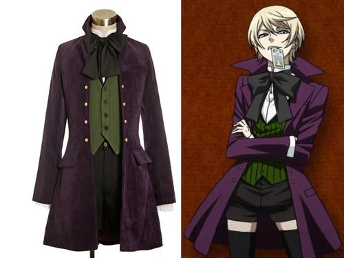 Black Butler/Kuroshitsuji Season2 Cosplay, Alois Trancy Gothic Dandy Kodona Costume Outfit