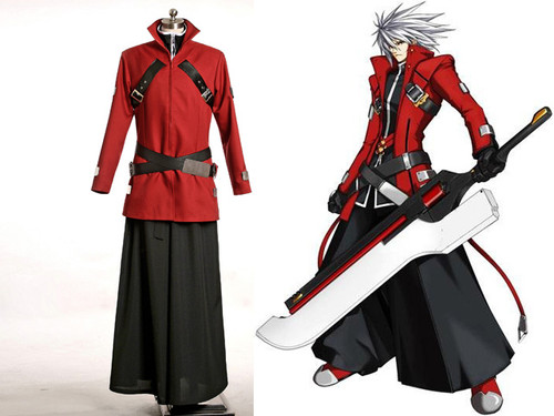 Blazblue: Calamity Trigger Cosplay, Ragna the Bloodedge Costume*2versions