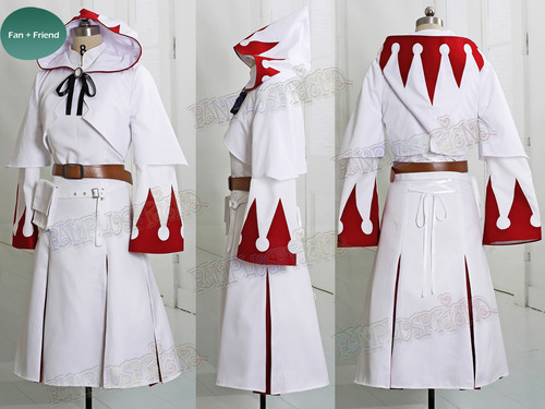 Final Fantasy XIV White Mage Cosplay Costume White Red Robe