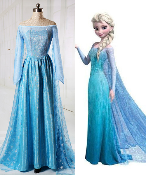 Disney Frozen (Movie) Cosplay, Elsa Costume Adult Women Outfit