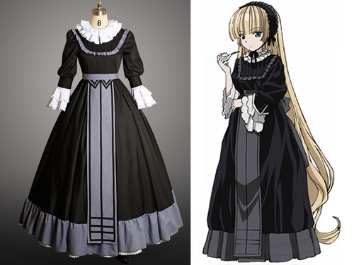 Gosick Cosplay, Victorique De Blois Costume Dress Set