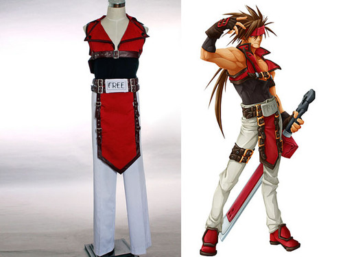 Guilty Gear Fighting Game Cosplay, Sol Badguy's Costume Set