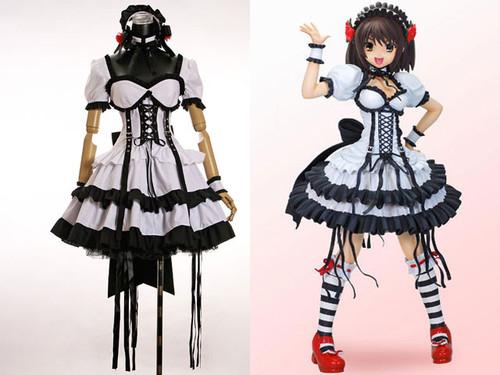 Haruhi Suzumiya Cosplay Punk Lolita Outfit