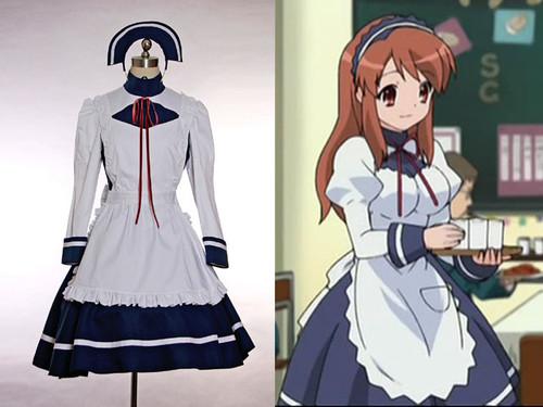 The Melancholy of Haruhi Suzumiya Cosplay, Tsuruya Cafe Maid Outfit