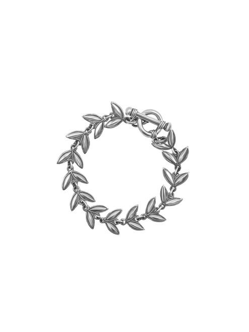 Silver V-shape Leaf Bracelet