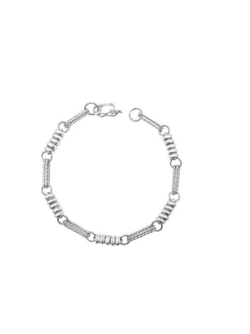 Silver Rope and Spiral Link Bracelet