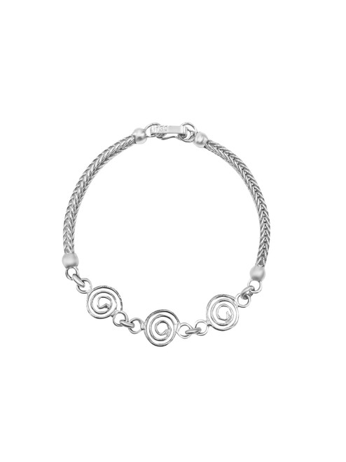 Medium Silver Swirls Bracelet