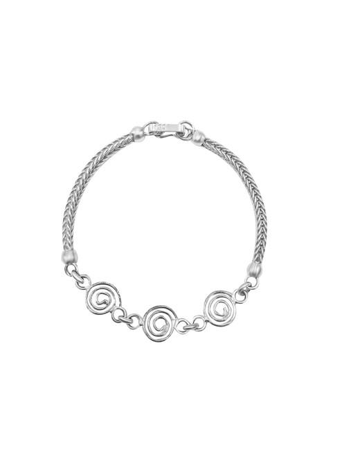 Medium Silver Spiral Link Bracelet