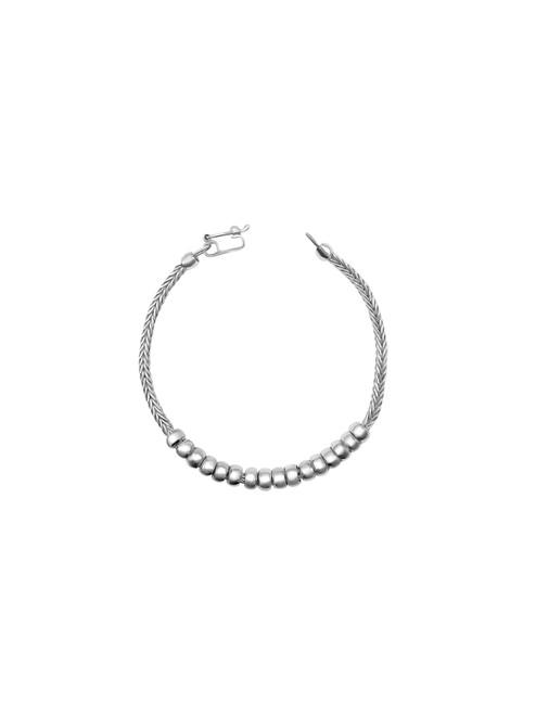 Silver Tube Foxtail Bracelet