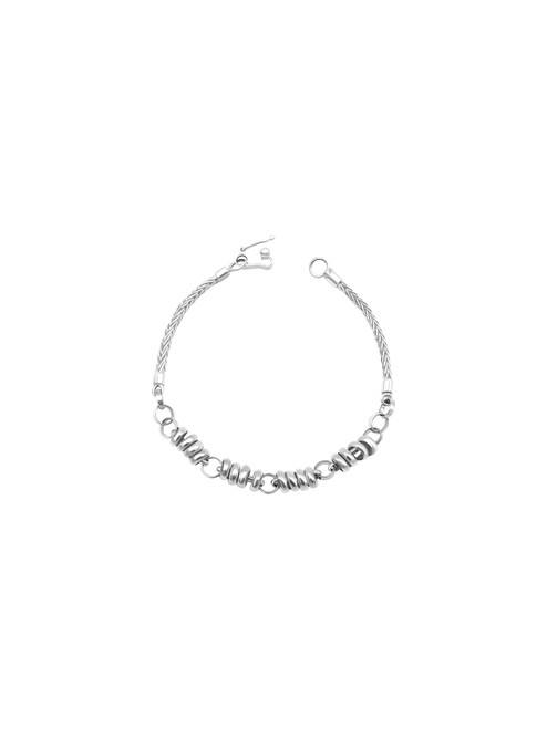 Large Silver Spiral Link Bracelet