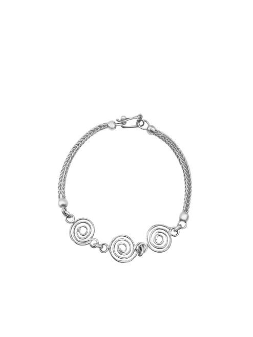 Large Silver Swirls Bracelet