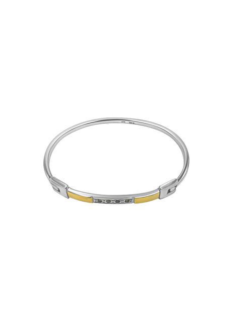 Silver Latch Bracelet with Circones