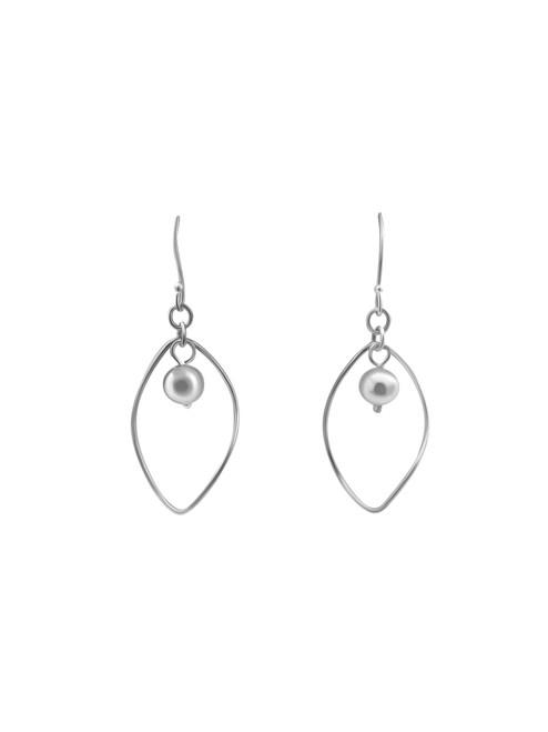 Silver Open Twisted Teardrop Earrings