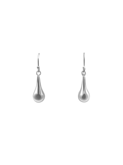 Silver Teardrop Bell Earrings