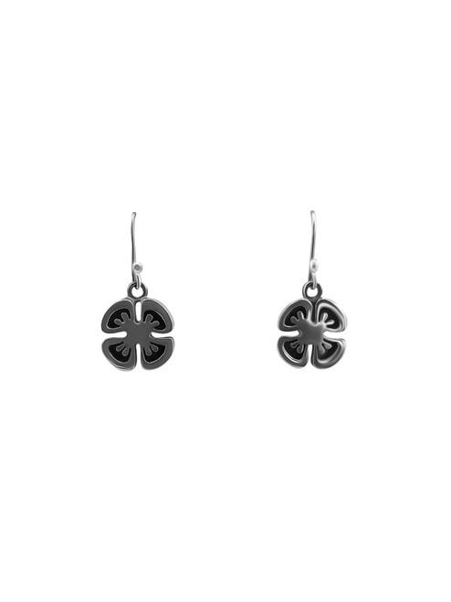 Silver Clover-Shaped Earrings