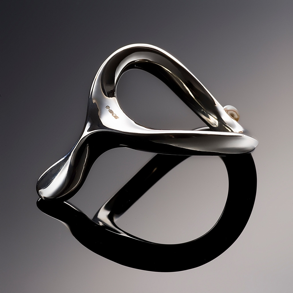 VelvOr Limited Edition JCobra Cock Ring - Hollow Silver 48mm