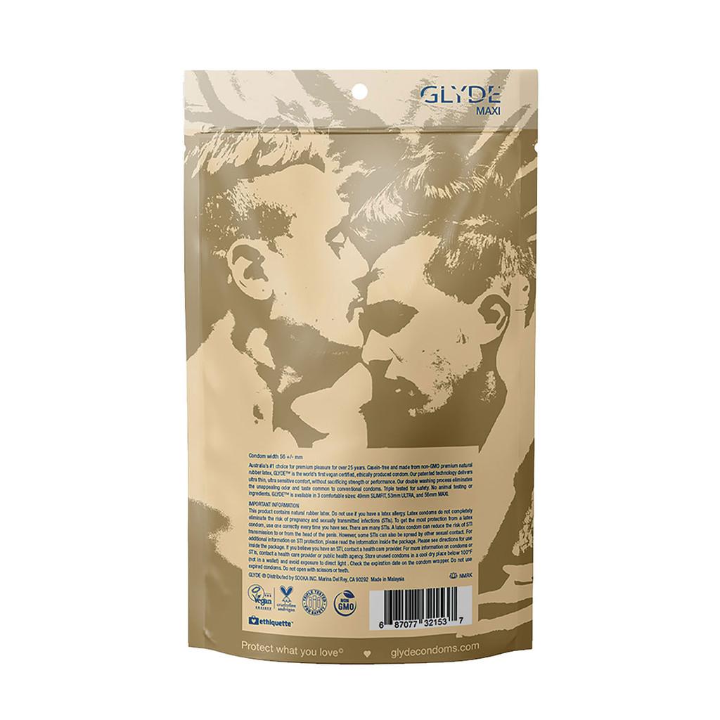 Glyde Maxi Vegan Condoms - Extra Large - 36 Pack