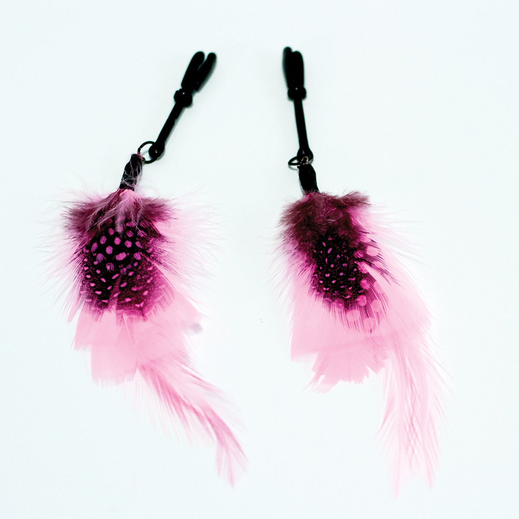 Sex Kitten Feather Nipple Clamps