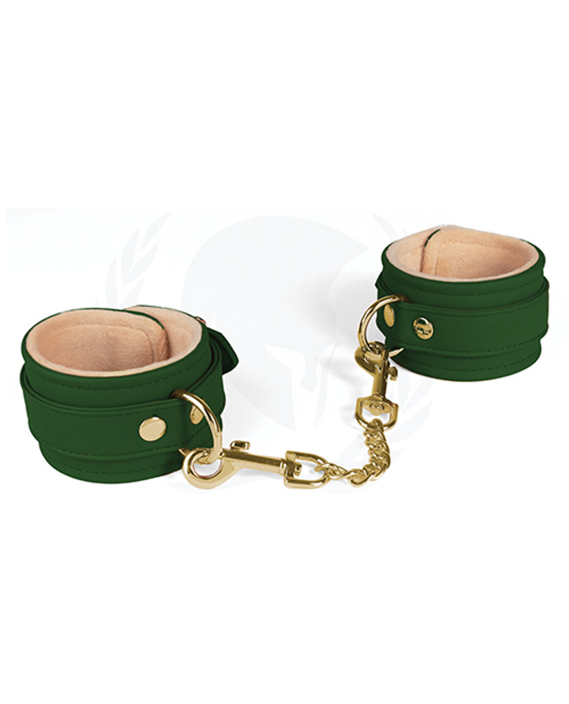 Spartacus Vegan Leather Wrist Cuffs w/Plush Lining