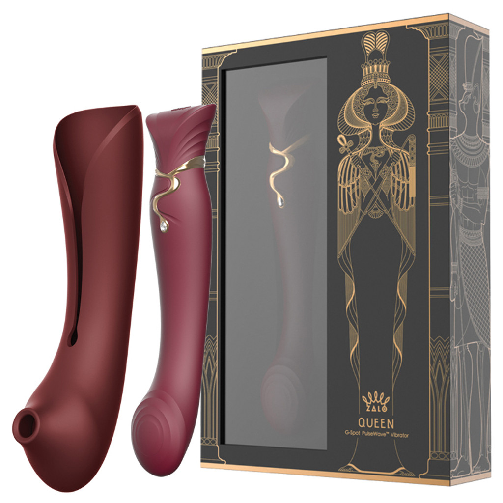 Queen Set G-spot PulseWave Vibrator with Suction Sleeve Jewel