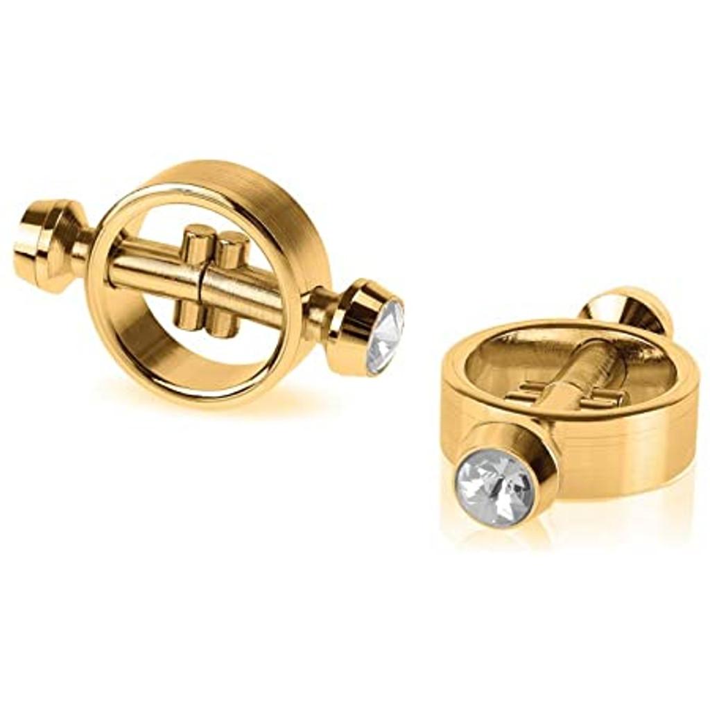 Fetish Fantasy Gold Magnetic Nipple Clamps - Gold