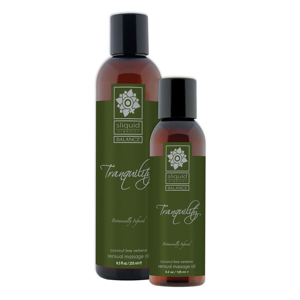 Sliquid Organics Sensual Massage Oil Tranquility - 4.2oz