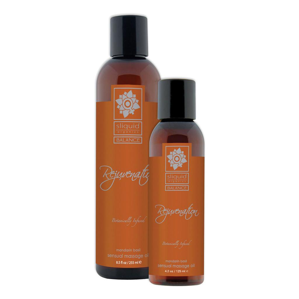 Sliquid Organics Sensual Massage Oil Rejuvenation - 4.2oz