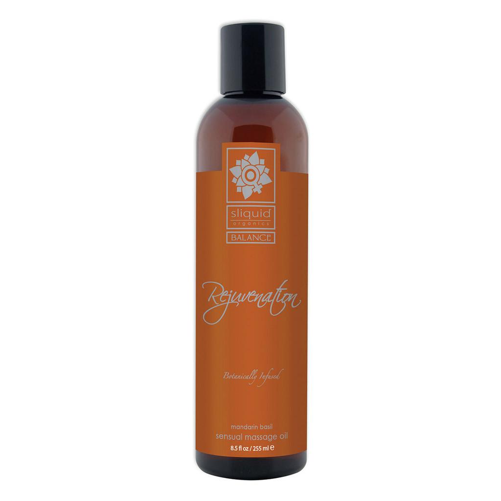 Sliquid Organics Sensual Massage Oil Rejuvenation - 8.5oz