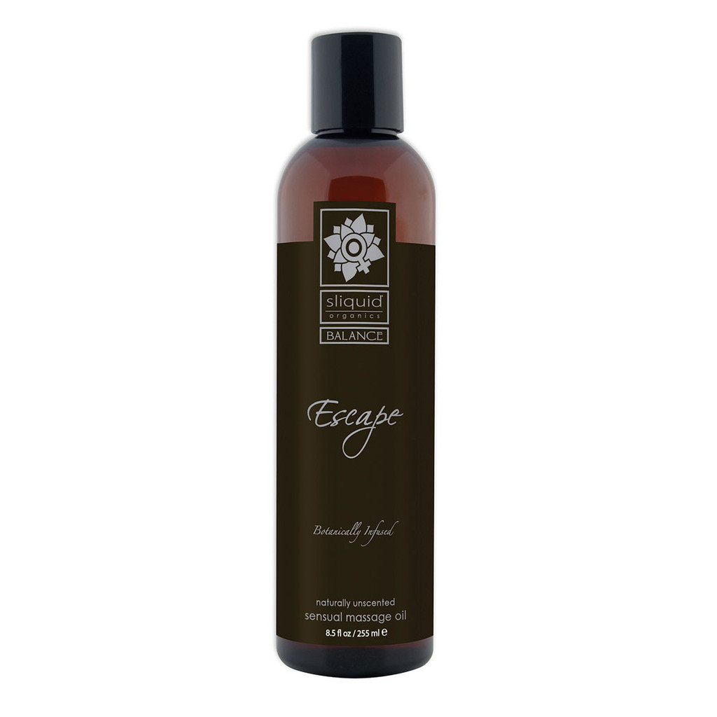 Sliquid Organics Sensual Massage Oil Escape Unscented - 8.5oz
