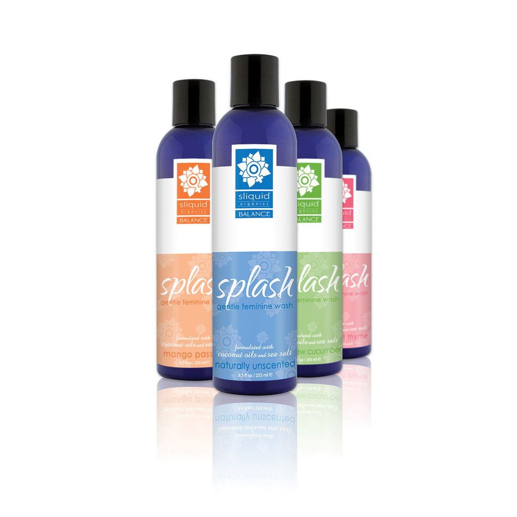 Sliquid Splash Feminine Wash - Naturally Unscented 8.5oz